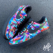 Load image into Gallery viewer, NIKE AF1 BLACK - PAINT SPLAT FREESTYLE - MattB Customs