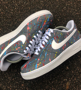 NIKE AF1 - GREY PAINT SPLAT - MattB Customs