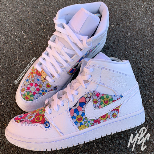NIKE JORDAN 1 - MURAKAMI CUT AND SEW - MattB Customs