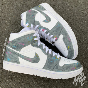NIKE JORDAN 1  - CONCRETE - MattB Customs