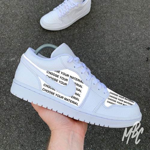 NIKE JORDAN 1 LOW - CUT AND SEW - MattB Customs