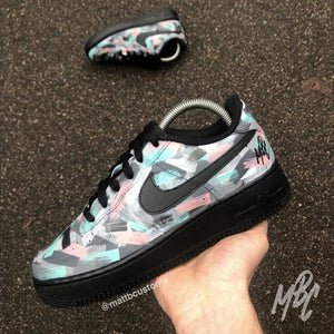 NIKE AF1 - ABSTRACT PAINT SWIPE - MattB Customs