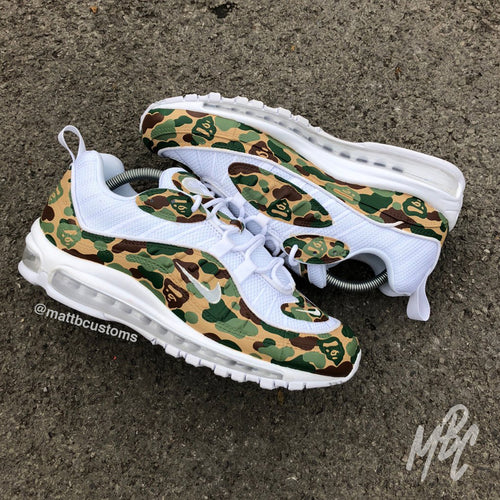 NIKE AIR MAX 98 - ARMY BAPE CAMO - MattB Customs