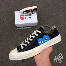 Load image into Gallery viewer, CONVERSE x CDG BLACK LOW - BLUE HEART