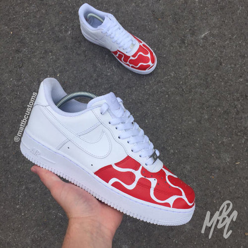 NIKE AF1 - RED BUBBLE