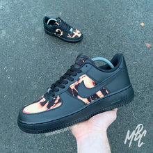Load image into Gallery viewer, NIKE AF1 BLACK - ACID WASH DENIM
