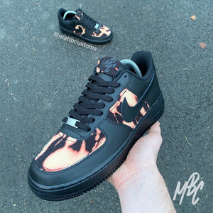 NIKE AF1 BLACK - ACID WASH DENIM