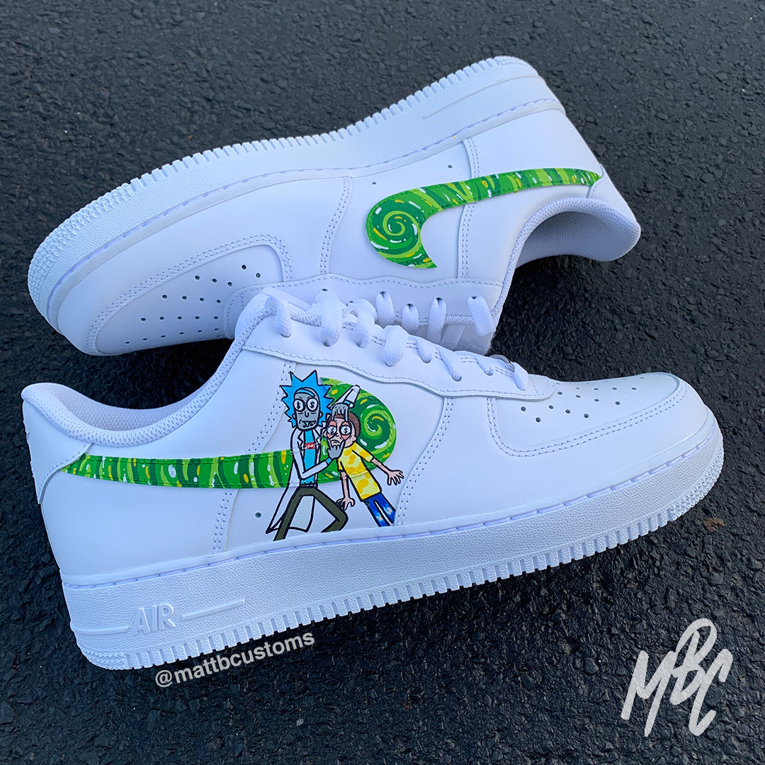 rick and morty shoes air force 1
