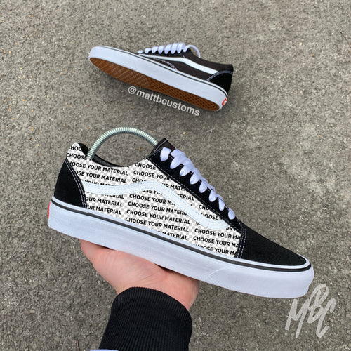 VANS OLD SKOOL - CUT & SEW - MattB Customs