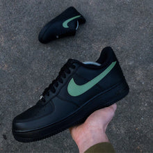 Load image into Gallery viewer, NIKE AF1 BLACK - SWOOSH PACK - MattB Customs