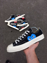 Load image into Gallery viewer, CONVERSE x CDG BLACK LOW - BLUE HEART - MattB Customs
