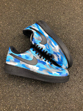 Load image into Gallery viewer, NIKE AF1 - BLUE TONE SWIPE - MattB Customs
