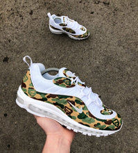 Load image into Gallery viewer, NIKE AIR MAX 98 - ARMY BAPE CAMO - MattB Customs