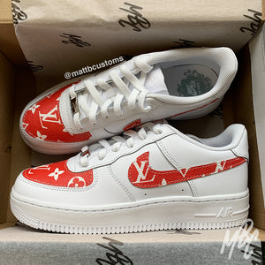 *PRE-MADE* NIKE AF1 - RED LV | UK 5