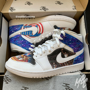 *PRE-MADE* JORDAN 1 MID - SPACE JAM | UK 7.5