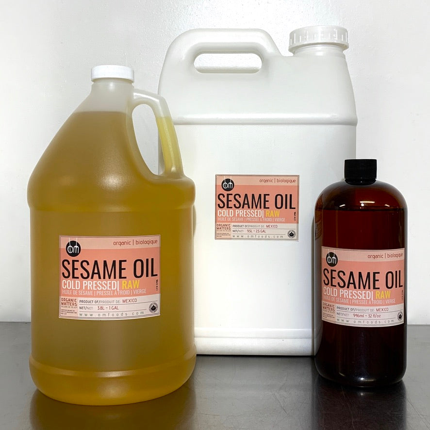 ORGANIC SESAME OIL, cold pressed, raw