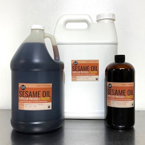 ORGANIC SESAME OIL, expeller pressed, toasted