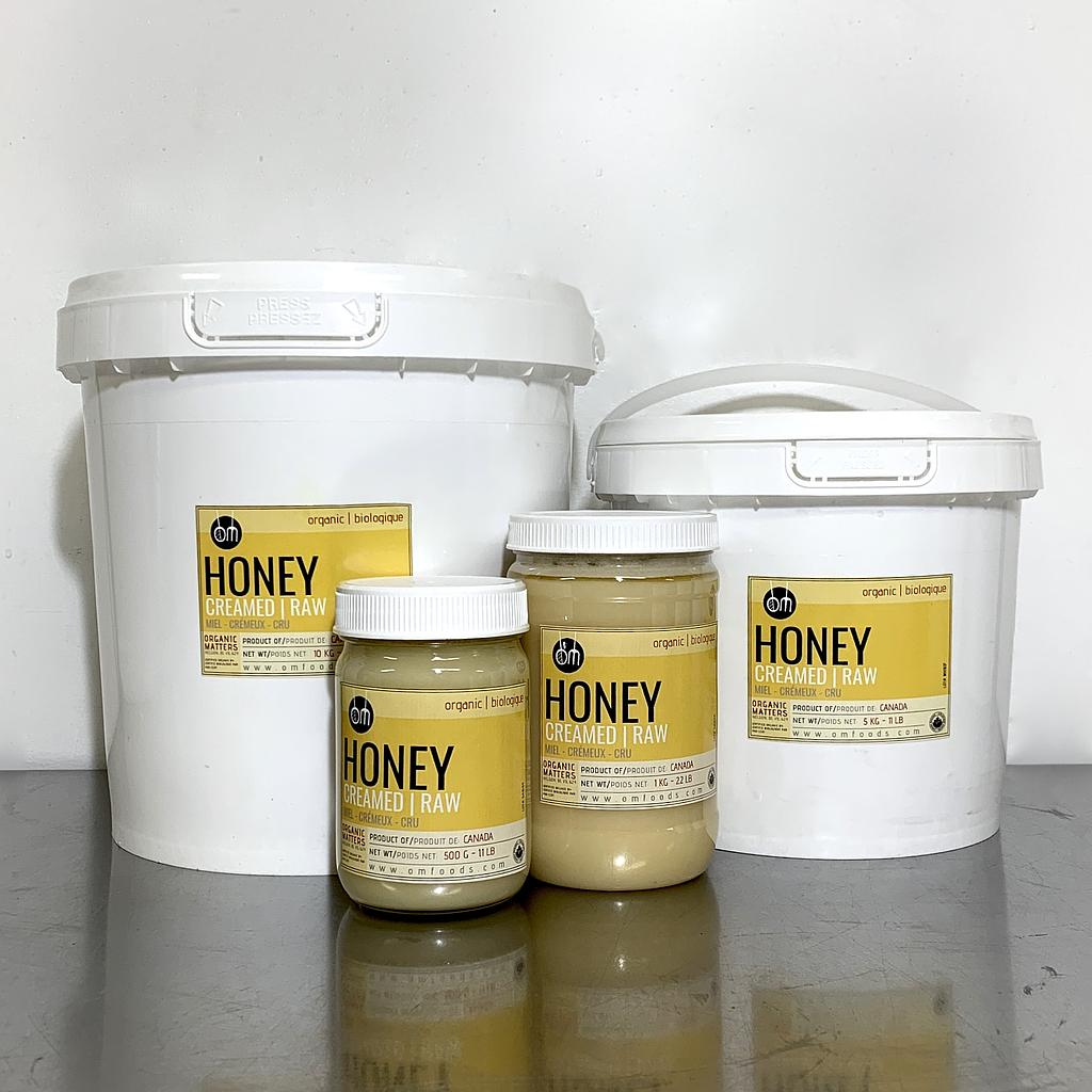 ORGANIC CREAMED HONEY, Canadian, raw