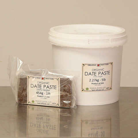 ORGANIC DATE PASTE, 100% Deglet-Dried Fruit-Essential Organic Ingredients