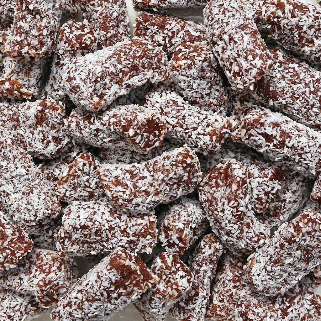 ORGANIC DATE ROLLS, with coconut-Dried Fruit-Essential Organic Ingredients
