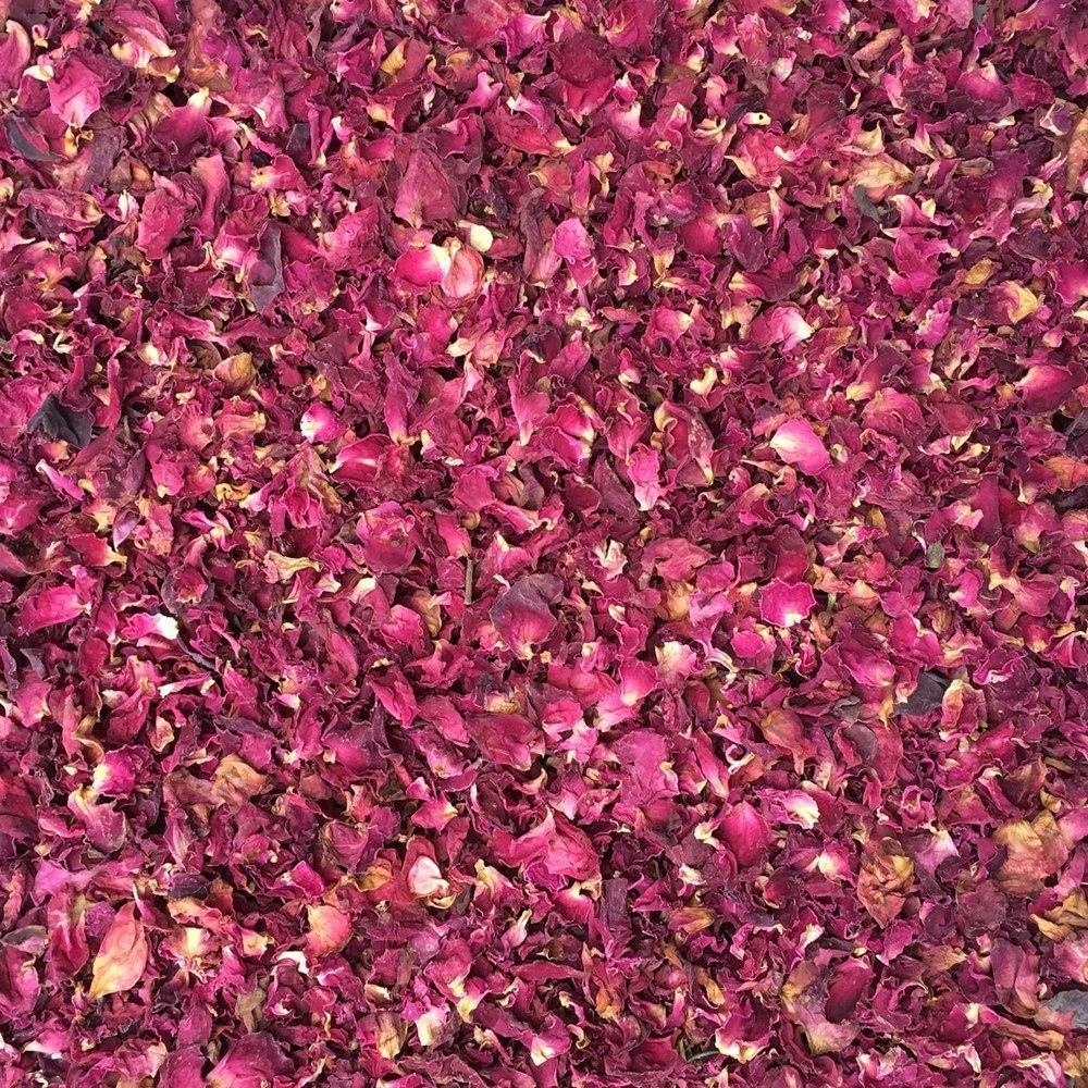 ORGANIC ROSE PETALS, red-Botanical Herb-Essential Organic Ingredients