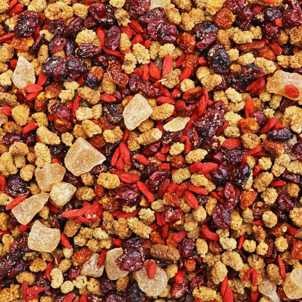 ORGANIC SUPER BERRY & GINGER MIX-Dried Fruit-Essential Organic Ingredients