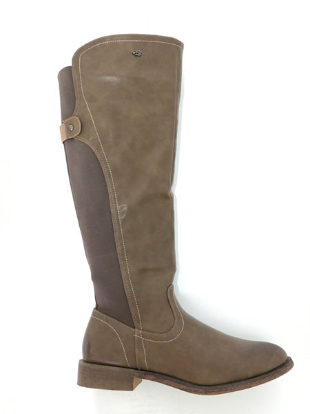 Taupe Long Boot by Miss Black