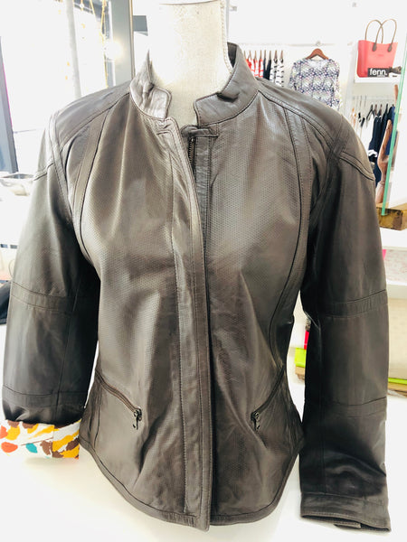Leather Dark Brown Jacket