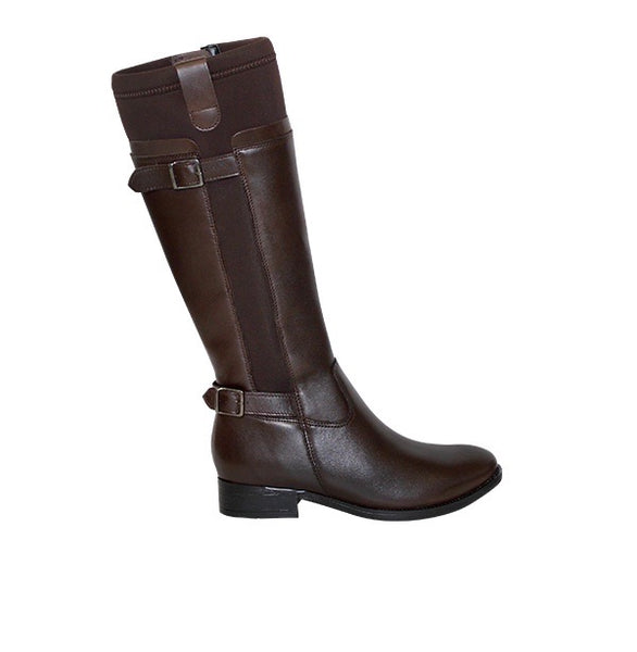 Froggie Brown Multi Neoprene Lea Boots