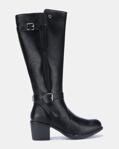 Bronx Chante Black Long Boot
