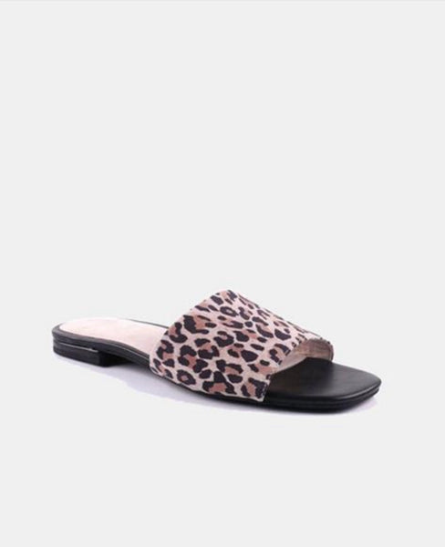 Julz 100% Leather Animal Print Slipon