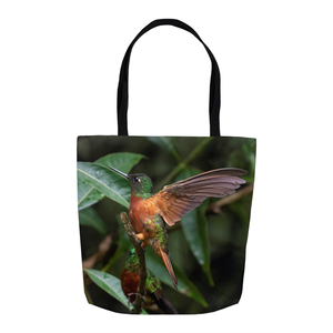Chestnut-breasted Coronet Hummingbird 16-inch Tote Bag