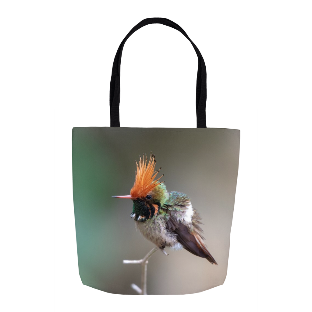 Rufous-crested Hummingbird 16-inch Tote Bag