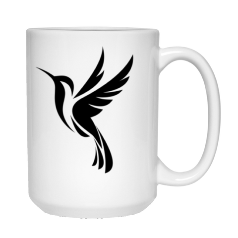 Image of Black Logo 2 sided - 15 oz. White Mug