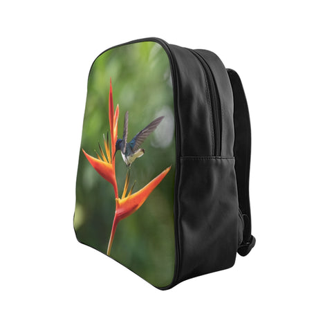 Image of White-necked Jacobin Hummingbird School Backpack