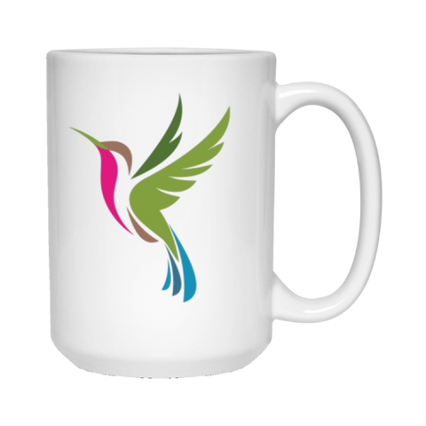 Color Logo 2 sided - 15 oz. White Mug
