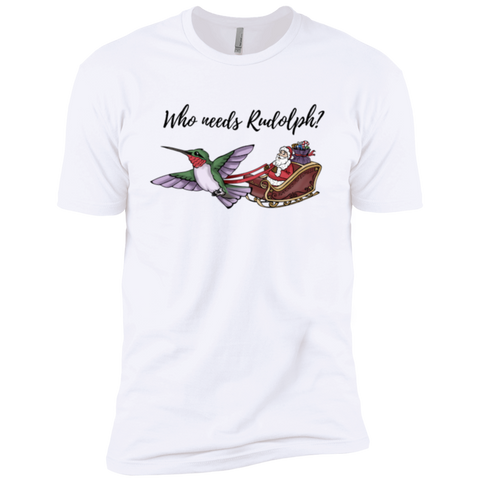 Image of Who Needs Rudolph? w/ text Premium Short Sleeve T-Shirt