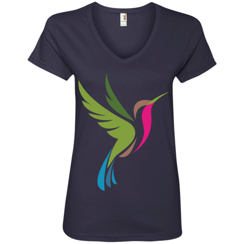 Image of Hummingbird Spot Logo Women's V-Neck T-Shirt