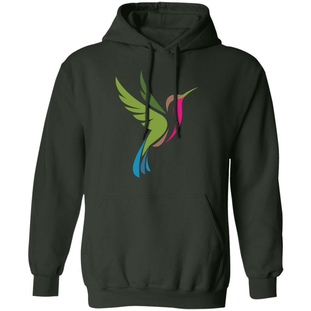 Hummingbird Spot Color Logo Men's Pullover Hoodie