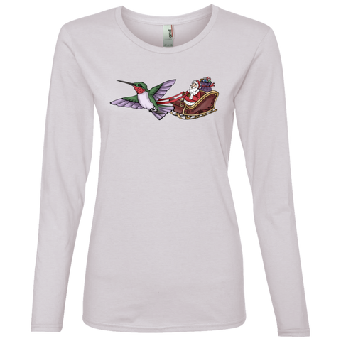 Image of Who Needs Rudolph Women's Holiday Lightweight LS T-Shirt