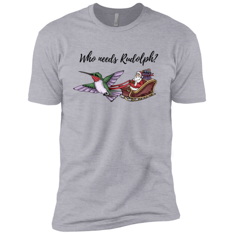 Who Needs Rudolph w/text Men's Holiday Short Sleeve T-Shirt