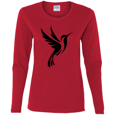 Hummingbird Spot Logo Women's Cotton LS T-Shirt