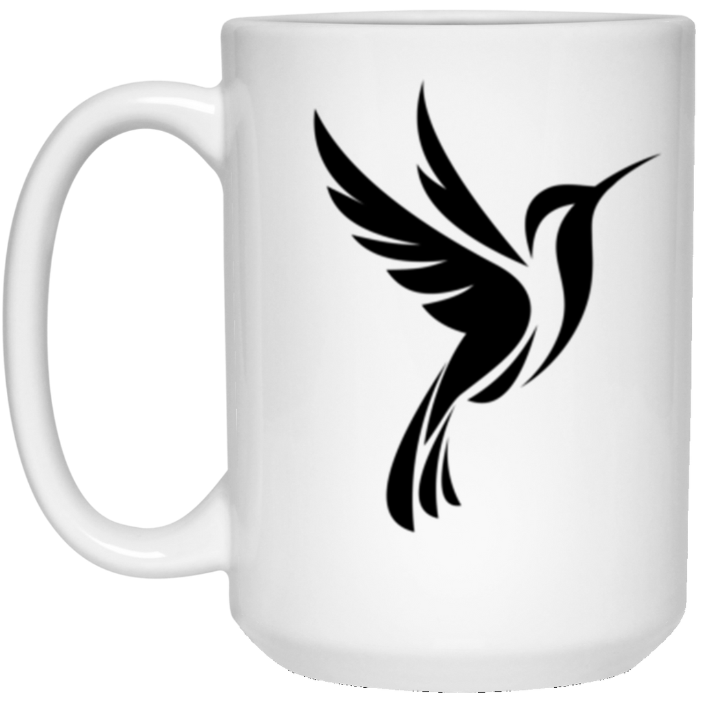 Black Logo 2 sided - 15 oz. White Mug