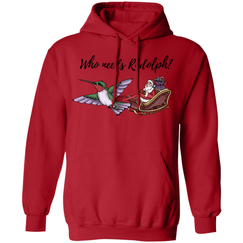 Image of Who Needs Rudolph w/text Men's Holiday Pullover Hoodie