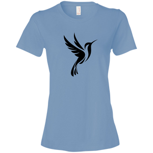 Hummingbird Spot Logo - Lightweight T-Shirt 4.5 oz