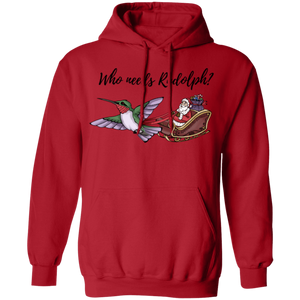 Who Needs Rudolph w/text Women's' Holiday PulloverHoodie