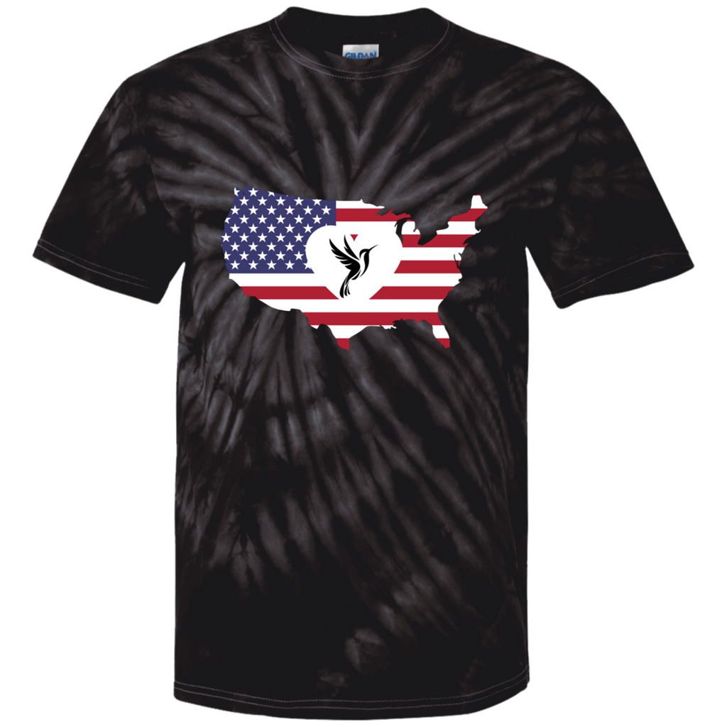 America Loves Hummingbirds Youth Tie Dye T-Shirt