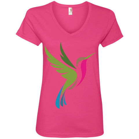 Hummingbird Spot Logo Women's V-Neck T-Shirt