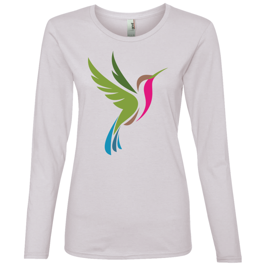 Hummingbird Spot Color Logo Women's Lightweight LS T-Shirt