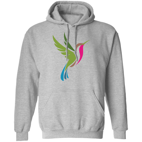 Image of Hummingbird Spot Color Logo Men's Pullover Hoodie